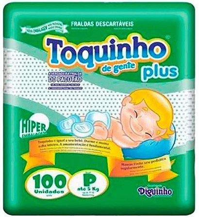 FRALDA TOQUINHO PLUS HIPER P C/100 UNIDADES