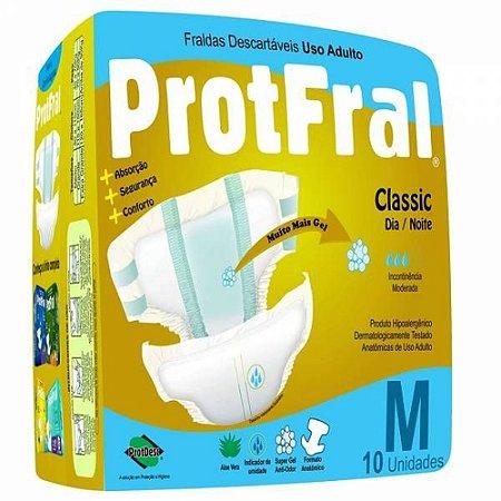 FRALDA ADULTO PROTFRAL CLASSIC TAM M C/ 10 UNIDADES
