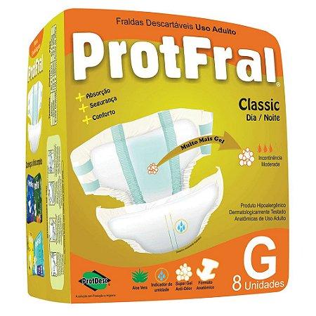 FRALDA ADULTO PROTFRAL CLASSIC TAM G C/ 8 UNIDADES