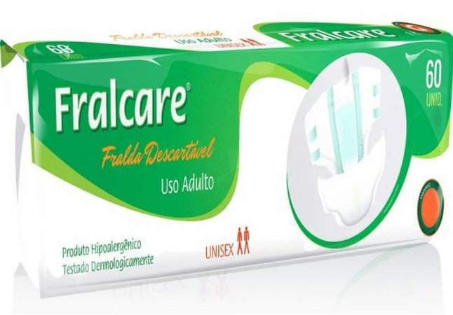 FRALDA ADULTO FRALCARE TAM M C/ 60 UNIDADES