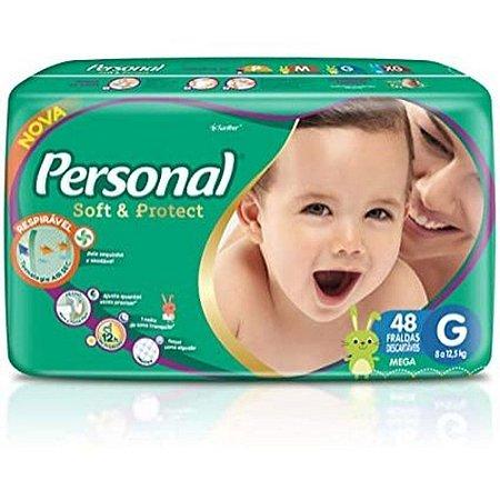 FRALDA PERSONAL SOFT & PROTEC G C/48 UNIDADES