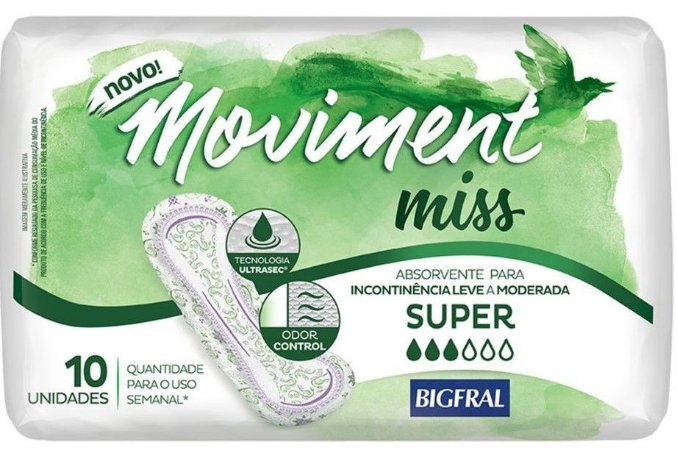 ABSORVENTE MOVIMENT MISS SUPER C/10 UNIDADES