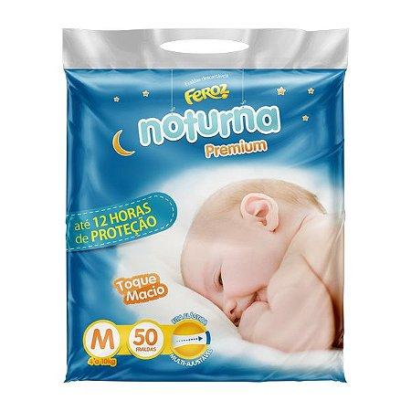 FRALDA FEROZ BABY NOTURNA PREMIUM M C/50 UNIDADES
