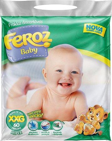 FRALDA FEROZ BABY DIA E NOITE HIPER XXG C/60 UNIDADES