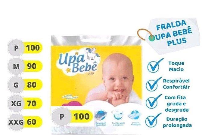 FRALDA UPA BEBE PLUS P C/100 UNIDADES