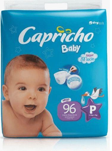 FRALDA CAPRICHO BABY MEGA P C/96 UNIDADADES
