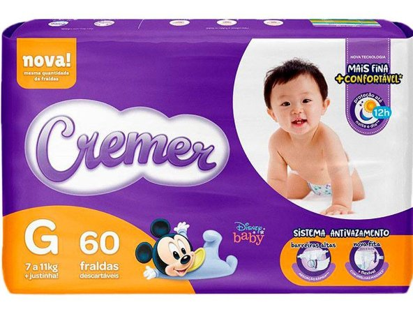 FRALDA CREMER DISNEY BABY MAGIC CARE HIPER G C/60 UNIDADES