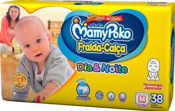 FRALDA CALÇA MAMYPOKO DIA&NOITE M C/38 UNIDADES