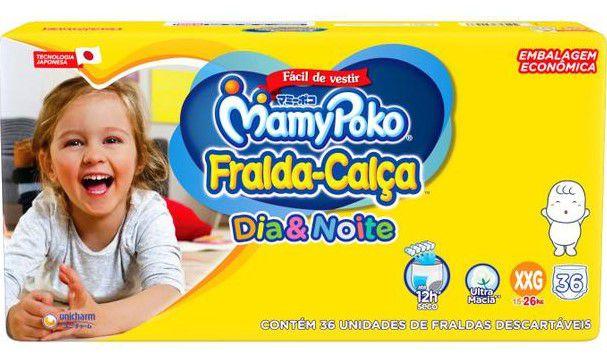 FRALDA CALÇA MAMYPOKO DIA&NOITE HIPER XXG C/36 UNIDADES