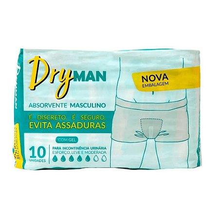 ABSORVENTE MASCULINO DRYMAN C/10 UNIDADES