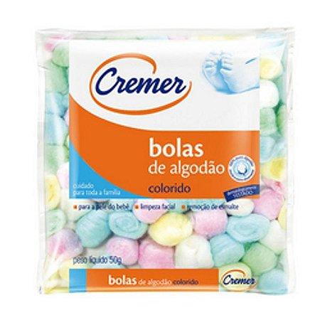 ALGODÃO CREMER BOLAS COLORIDAS 50G