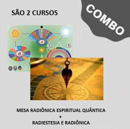 1.0. DOIS (2) CURSOS: Curso de MESA RADIÔNICA QUÂNTICA + Curso de RADIESTESIA E RADIÔNICA Ministrado pelo criador da mesa.