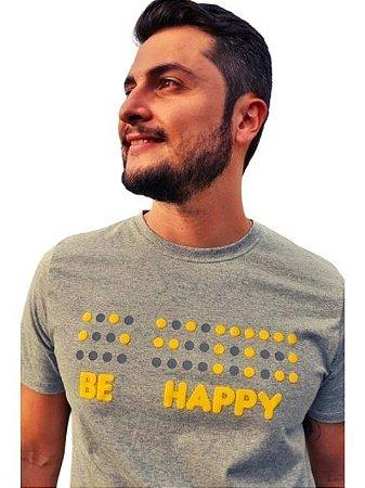Camiseta Inclusiva Braille Be Happy