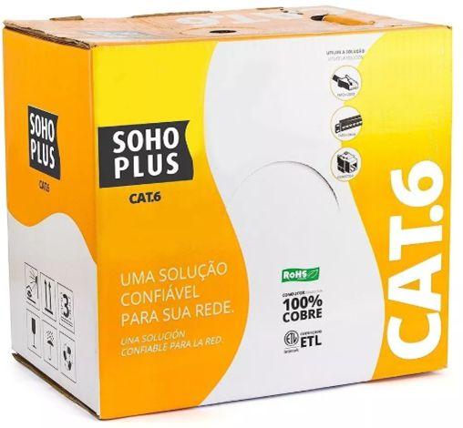 CABO ELETRONICO CAT. 6 SOHOPLUS CMX Azul - Caixa 305m