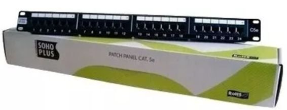 PATCH PANEL CAT5E SOHOPLUS T568A/B 24P