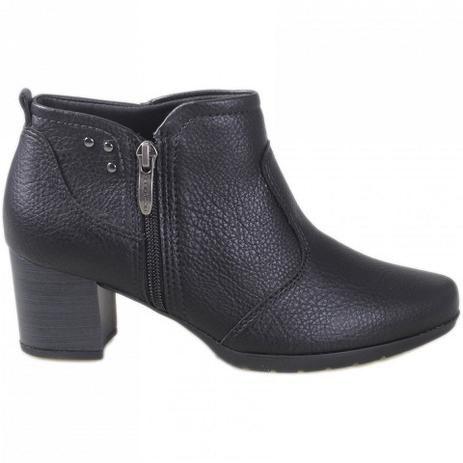 Bota Piccadilly Ankle Boot Preta 331037