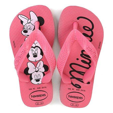 Havaianas Top Disney Infantil Rosa
