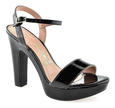 Sandália Salto Grosso Verniz Premium Preto 6292200