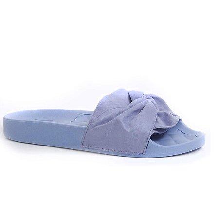 Slide Moleca Camurça Azul Jeans 5414144