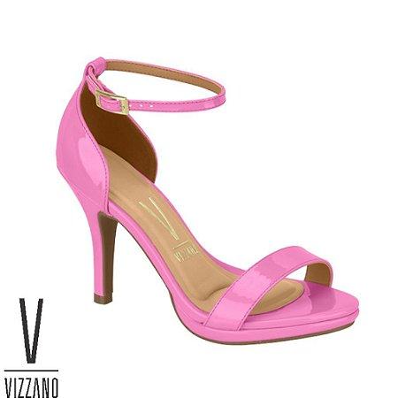 Sandália Vizzano Verniz Salto Fino Pink 6210655