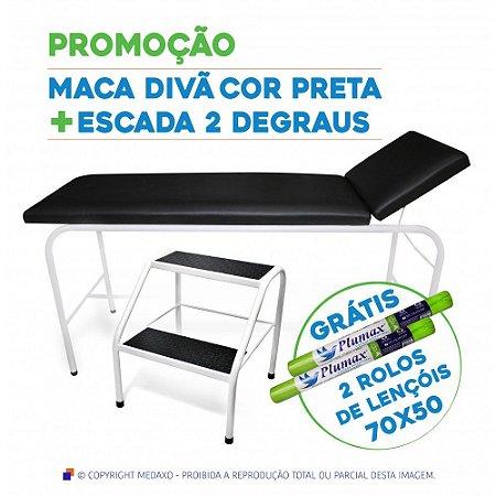 CONJUNTO MACA DIVÃ + ESCADA 2 DEGRAUS - GRÁTIS 02 LENÇÓIS