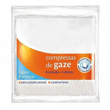 Compressa Gaze Esteril 7,5X7,5CM 11 Fios  Pcte 10un