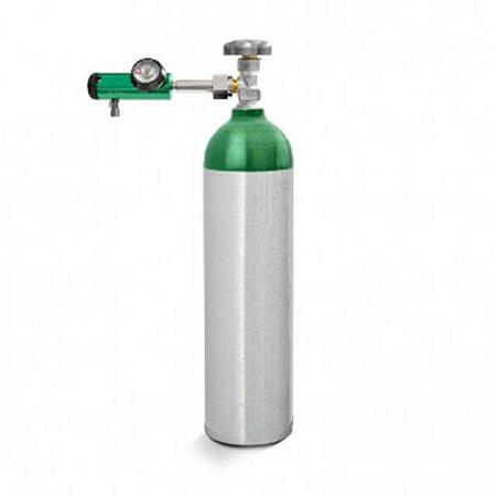 Kit Oxigênio 1 L  -  cilindro Alumínio + Válvula com Regulador Click