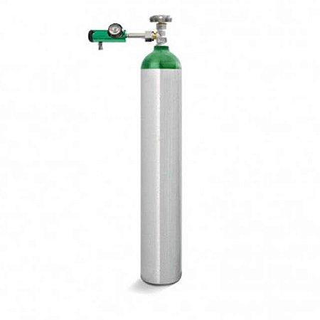 Kit Oxigênio 5 Litros - Cilindro Alumínio + Válvula com Regulador Click