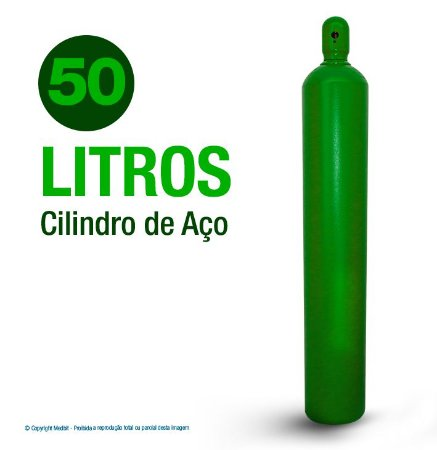 Cilindro De Oxigênio Medicinal em Aço 50 Litros