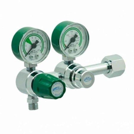 Válvula Reguladora Para Cilindro Duplo Estágio De Oxigênio