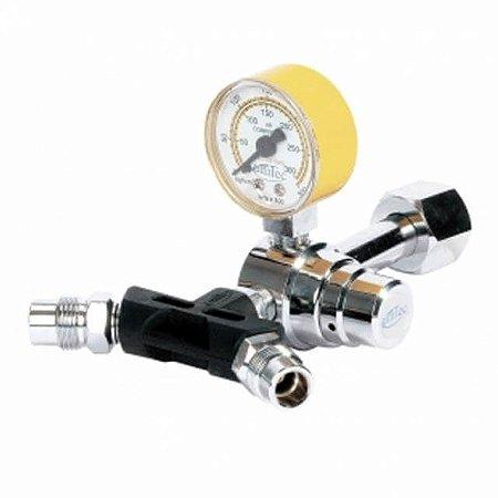 Válvula Reguladora P/ Cilindro Com Duas Saídas Ar Comprimido