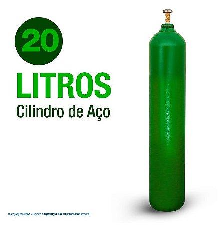Cilindro de Oxigênio Medicinal em Aço 20 Litros (Sem carga)
