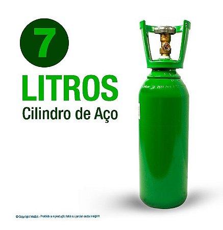 Cilindro de Oxigênio Medicinal em Aço 7 Litros (Sem carga)