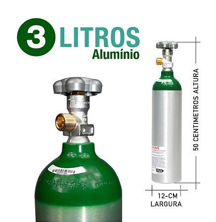 Cilindro de Oxigênio Medicinal em Alumínio  3 L Sem carga