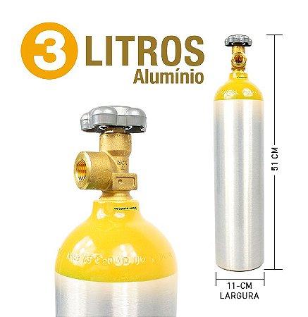 Cilindro de Ar Comprimido em Alumínio  3L (Sem Carga)