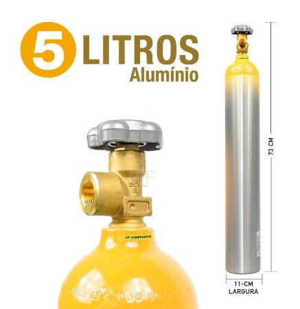 Cilindro de Ar Comprimido em Alumínio  5L (Sem Carga)