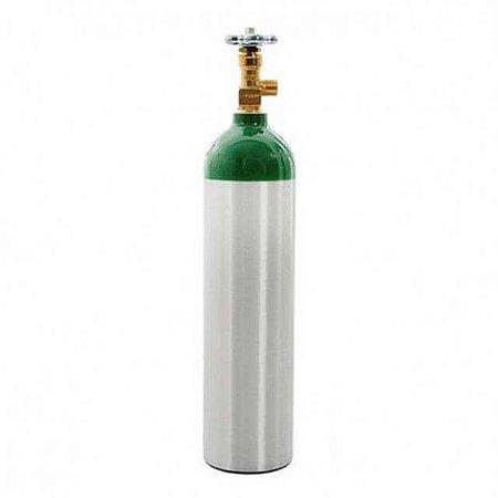 Cilindro de Oxigênio Medicinal em Alumínio 1,0 Litro (Sem carga)