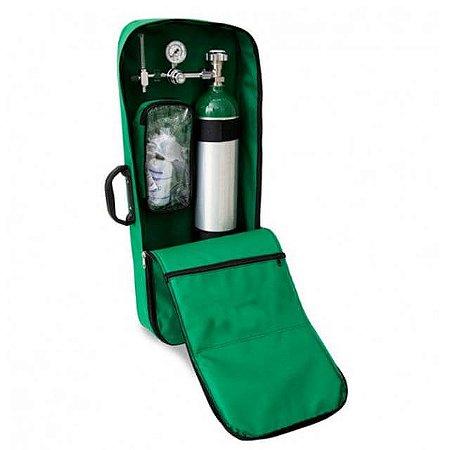 Kit Oxigênio Portátil 5 Litros Alumínio Bolsa Verde (Sem Carga)