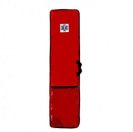 Capa para Prancha de Resgate  Longa com Bolso Vermelha