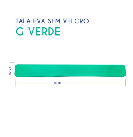Tala EVA Sem Velcro G Verde