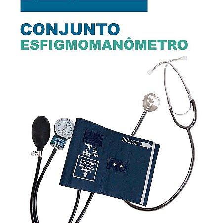 Conjunto Estetoscópio + Esfigmomanômetro Solidor