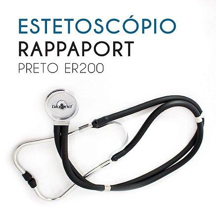 Estetoscópio Rappaport Preto ER200