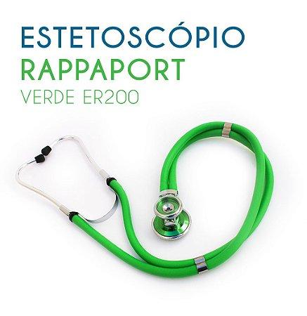 Estetoscópio Rappaport Verde ER200