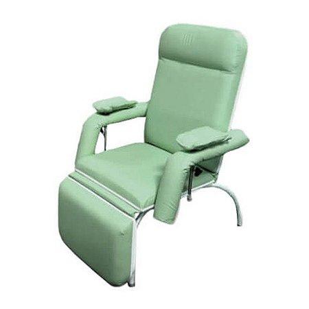Poltrona Coleta Sangue/Hemodiálise Aço Carbono (Luxo) Verde