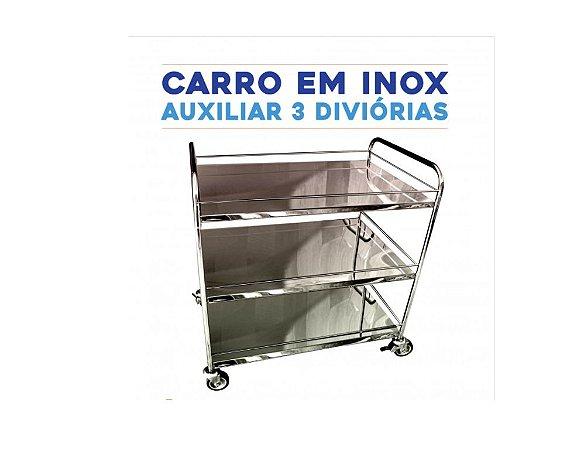 Carro Para Transp. de Bandejas em Inox SL
