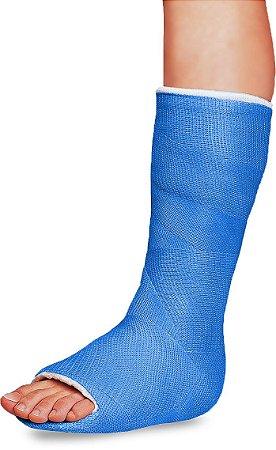 Atadura Gessada Sintética Hygia Cast 10cm - Cor Azul