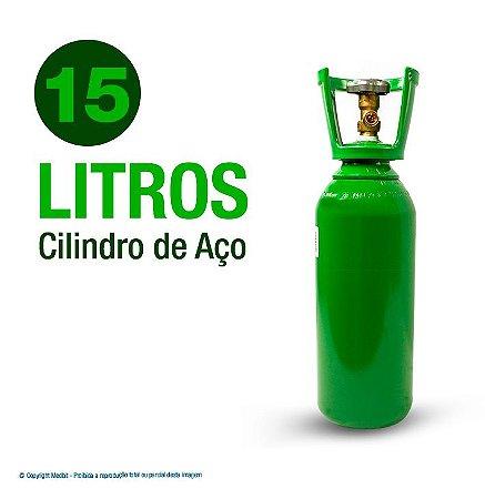Cilindro de Oxigênio Medicinal em Aço 15 Litros (Sem carga)