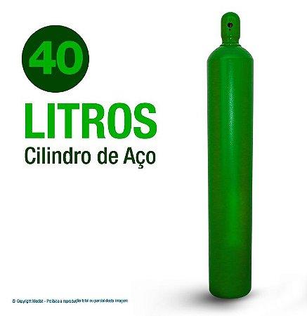 Cilindro De Oxigênio Medicinal em Aço 40 Litros