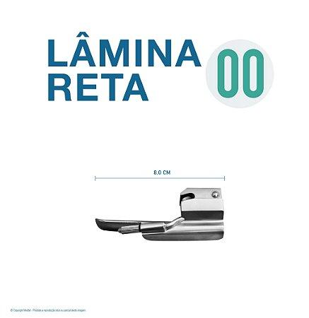LAMINA LARINGO RETA CONVENCIONAL ACO INOX 00