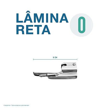 LAMINA LARINGO RETA CONVENCIONAL ACO INOX 0